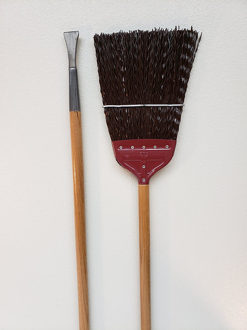 LCB 397 R - Railroad Broom Metal Cap with Chisel
