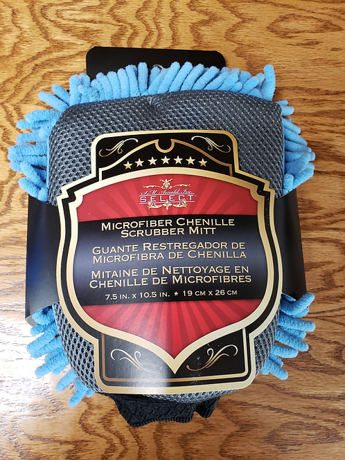 SMA 25-331 - Microfiber Chenille 2-IN-1 Wash Mitts with Bug Scrubber