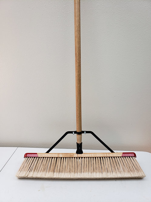 "25 Series Complete - 18"" 24"" 30"" 36"" 42"" Coronette Fine Sweep Push Broom"