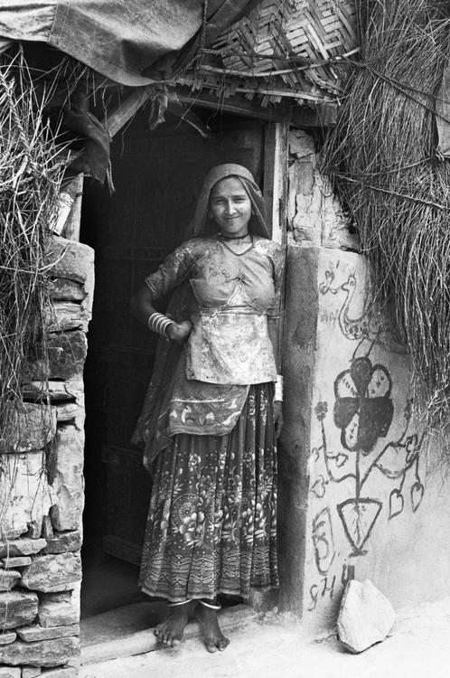 Woman with Graffiti