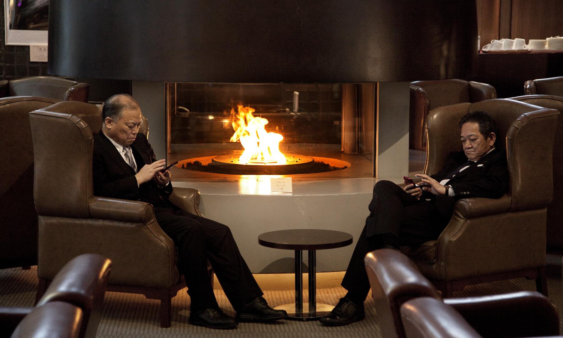 Business Men in Hotel Lobby