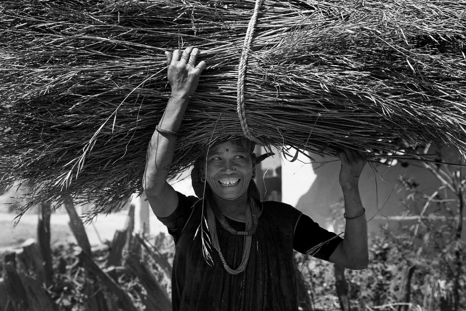 Woman with Straw Head