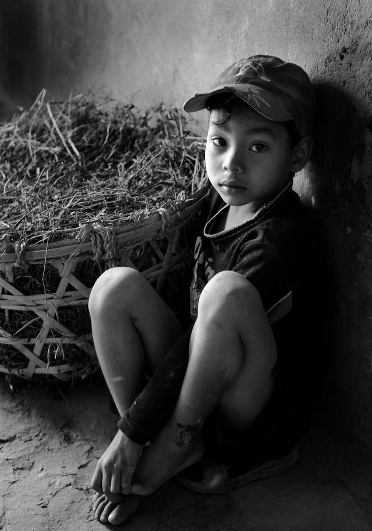 Boy with Basket