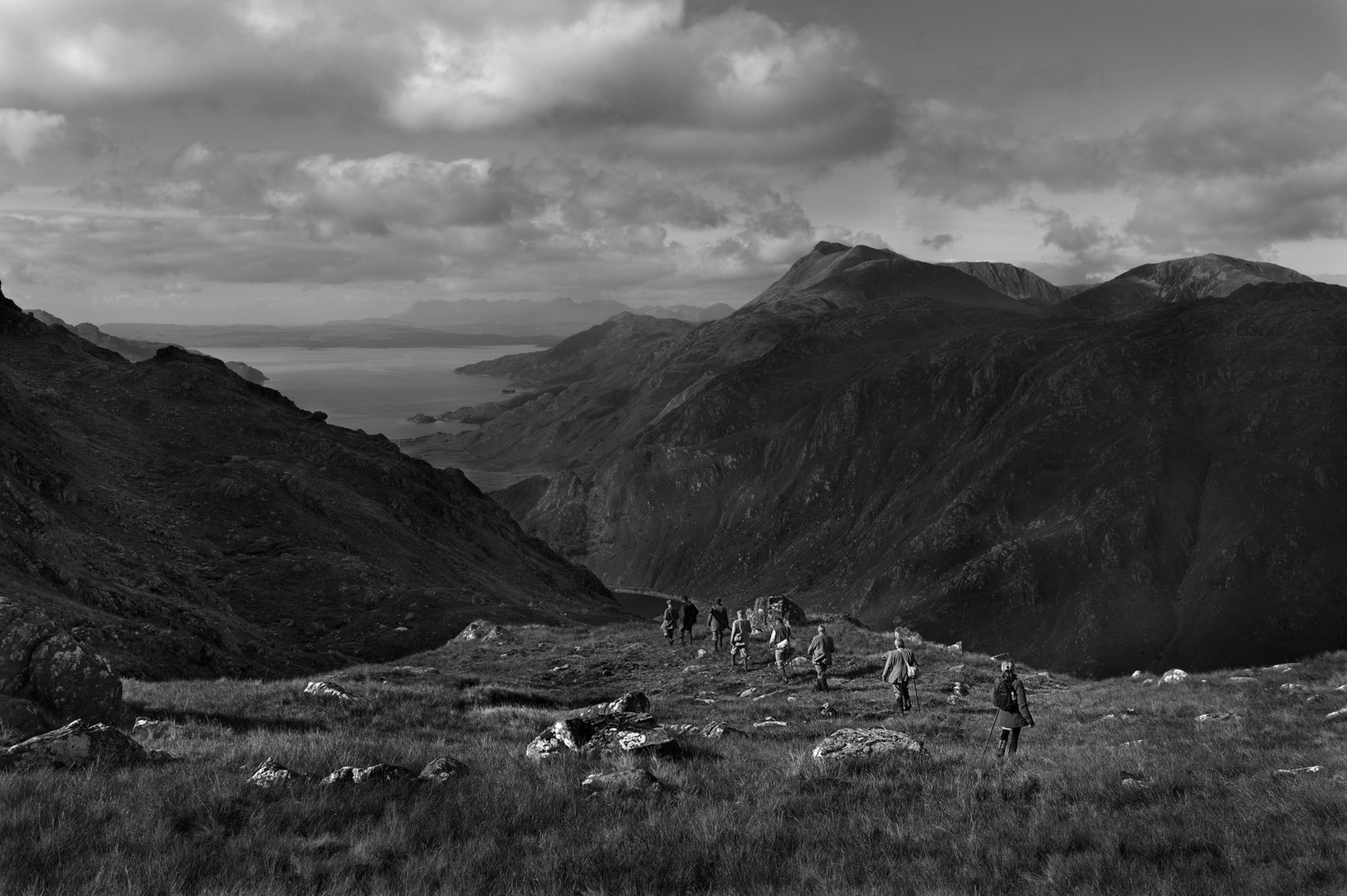 Walking over Hill to Arnisdale