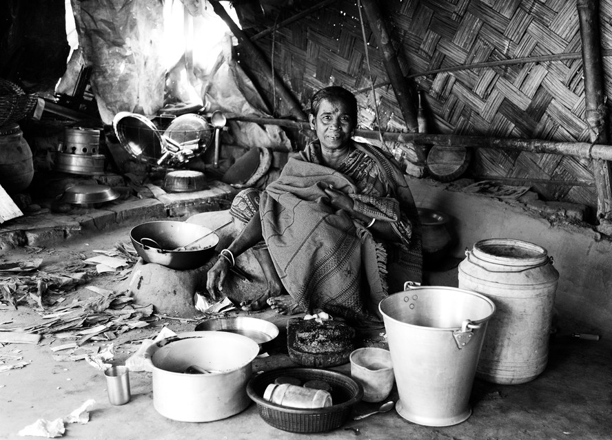 Woman with Pans