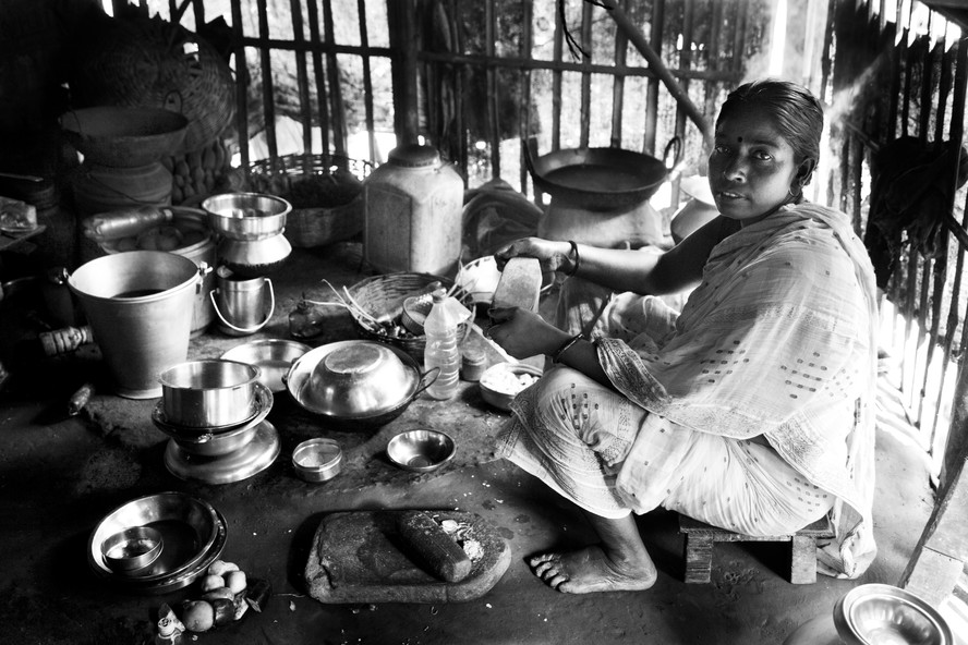 Woman in Room Where She Makes Sweets