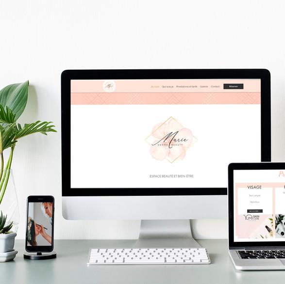 Site internet- MARIE DERMA BEAUTY