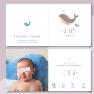 Faire-part naissance JULIA