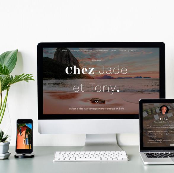 Site internet - CHEZ JADE ET TONY