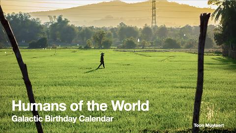 Galactische Verjaardagskalender - Mensen van de wereld