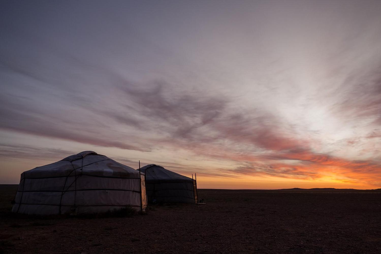 Yurt sunset