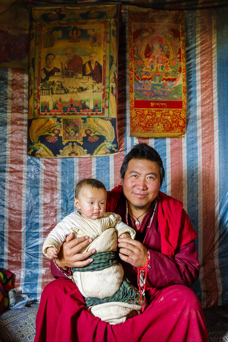 Monk and baby