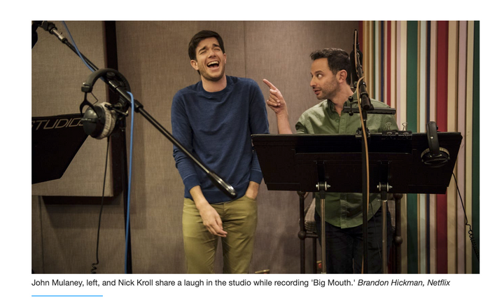 Some of my images from inside the recording studio of Netflix's Big Mouth.