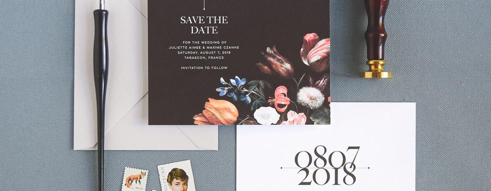 Juliette Save the Date card