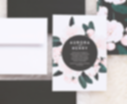 Floral Wedding Invitations by Rachel Marvin Creative