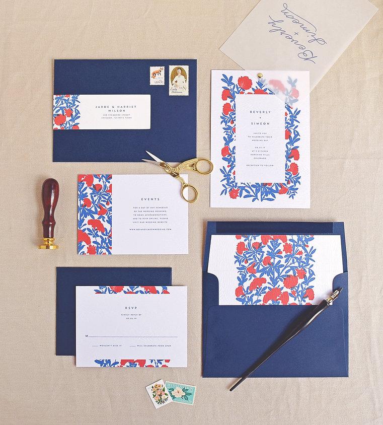 Woodgrain Embossed, Beverly Wedding Invitations by Rachel Marvin Creative