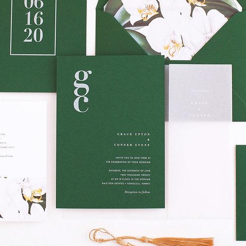 ORCHID WEDDING INVITATION SAMPLE SET