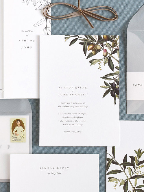 OLIVA WEDDING INVITATION SAMPLE SET
