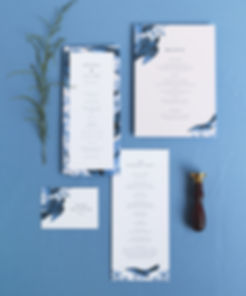 Brenna menu card, program card and place card