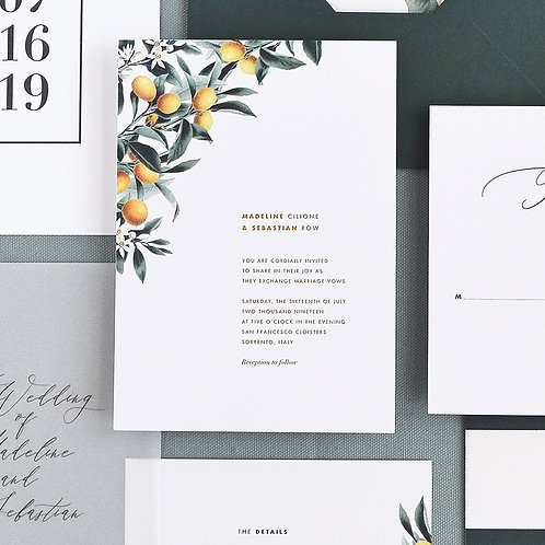 MADELINE WEDDING INVITATION SAMPLE SET