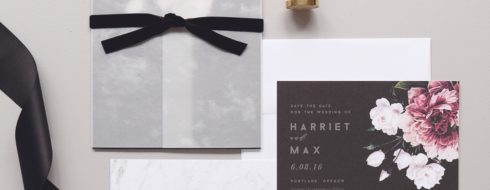 Florence Invitation and Save the Date card