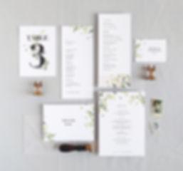 Anna program card, menu card, place card, thank you card