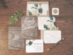 Woodland Floral Wedding Invitations by Rachel Marvin Creative