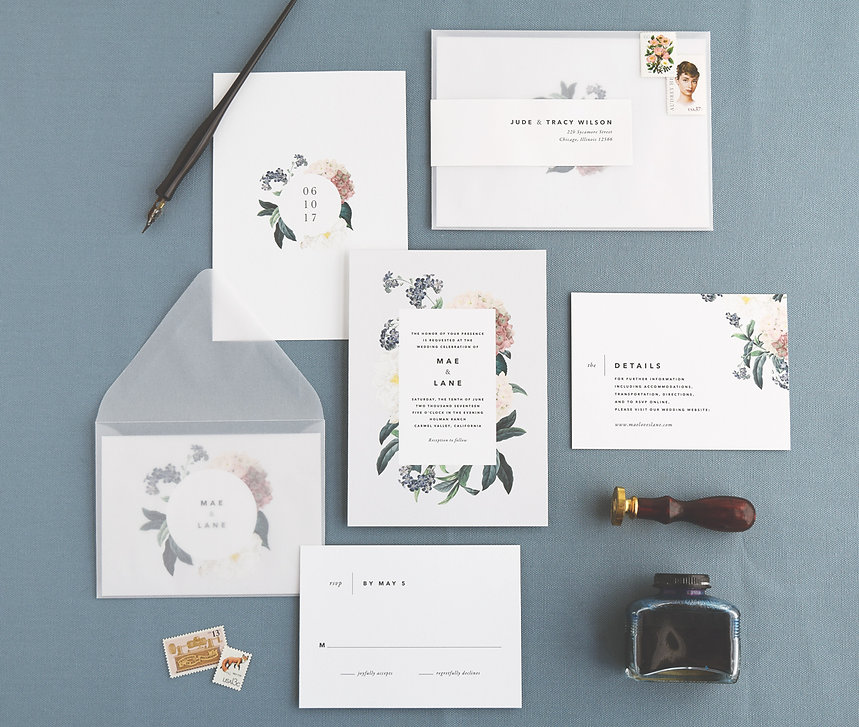 Mae Wedding Invitations by Rachel Marvin Creative