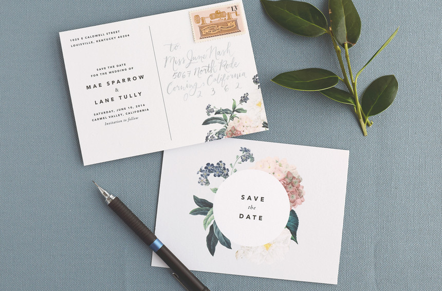 Mae Save the Date Postcard