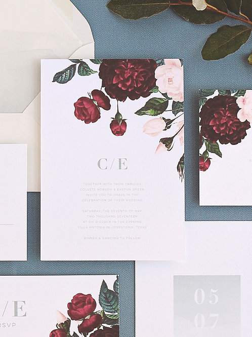 PAINTED BOTANICALS WEDDING INVITATION SAMPLE SET