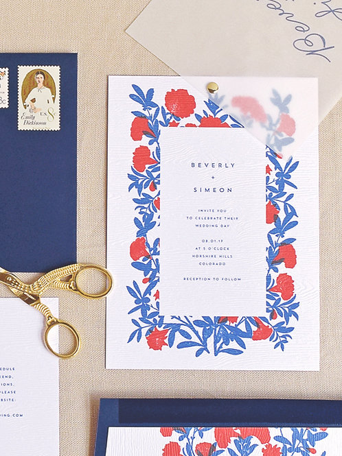 BEVERLY WEDDING INVITATION SAMPLE SET