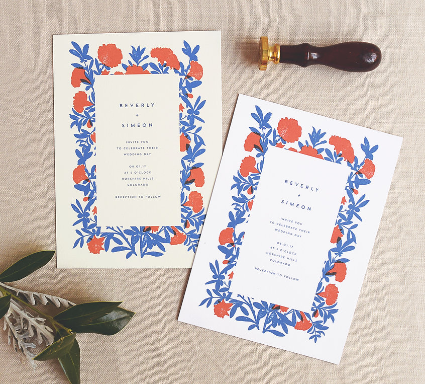 Beverly, Southwestern inspired invitaitons