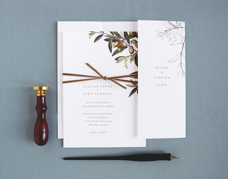 olive weddig invitation