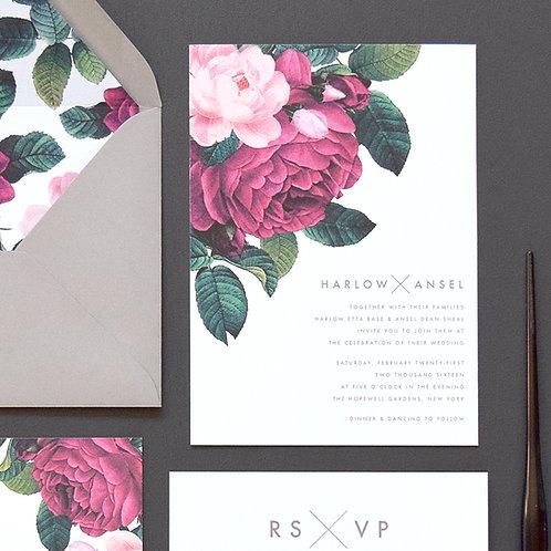 HARLOW WEDDING INVITATION SAMPLE SET