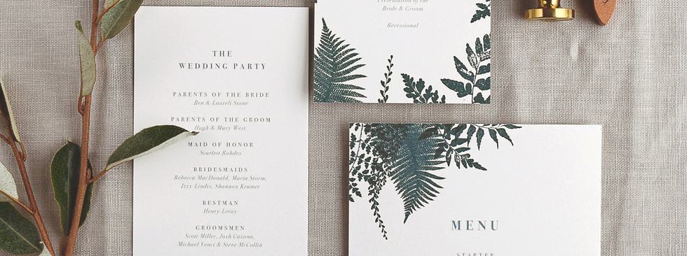 The Celine program and menu card