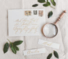 envelope calligraphy and place cards