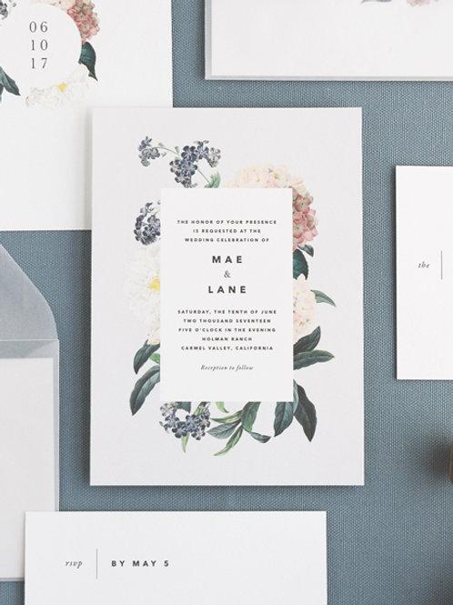 MAE WEDDING INVITATION SAMPLE SET
