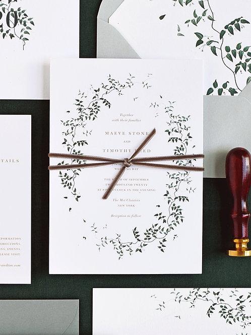 MAEVE WEDDING INVITATION SAMPLE SET