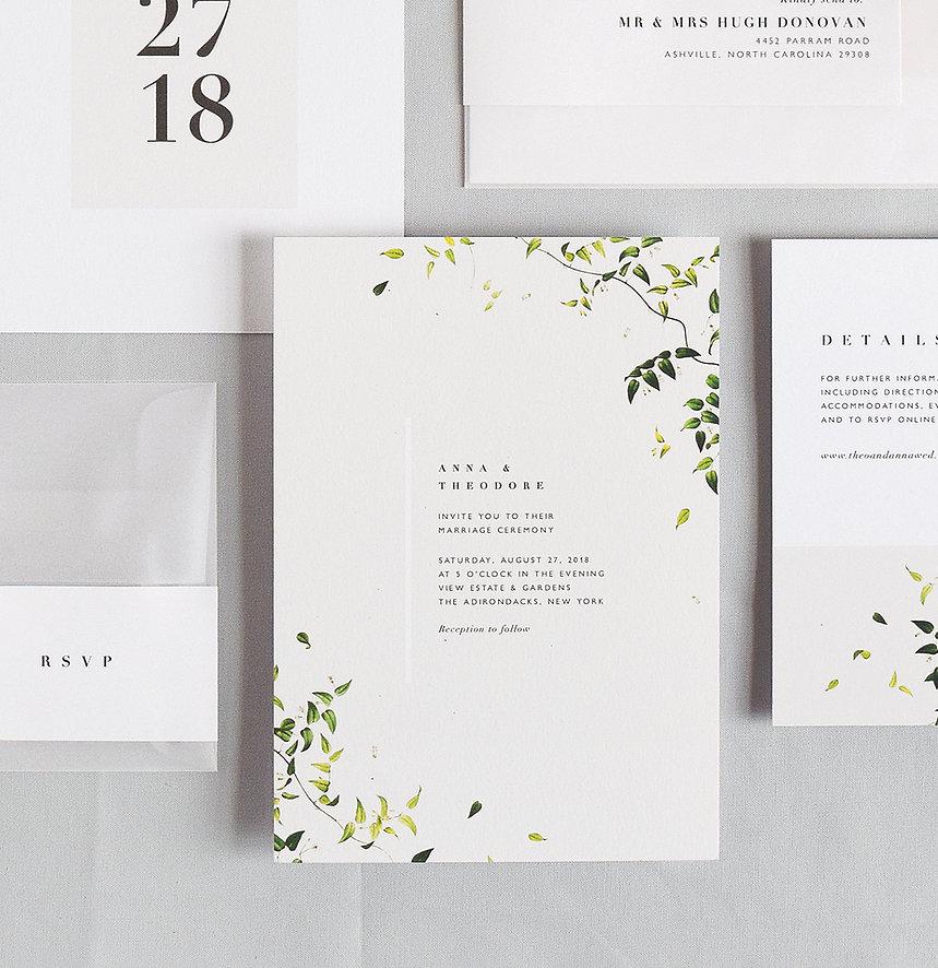 Anna wedding invitation