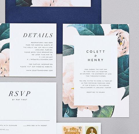 Jardin Wedding Invitation Sample Set