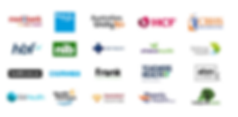 Medibank Private, Bupa, HCF, HBF, AHM, HIF, CBHS, NIB Frank, Australian Unity, GU Health