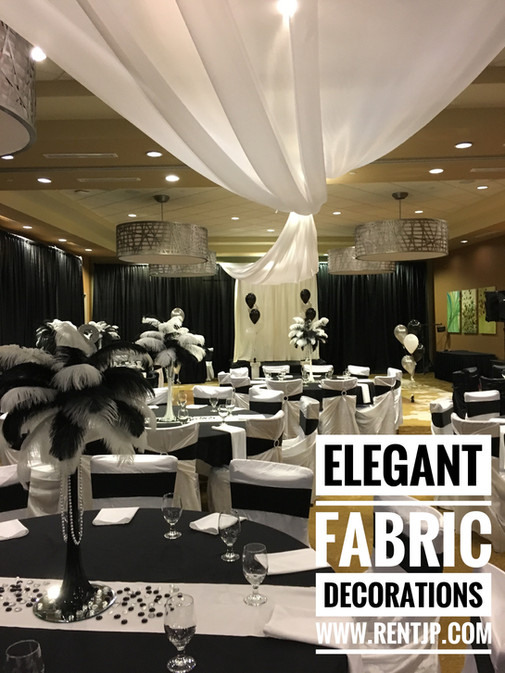 Elegant Fabric Decorations