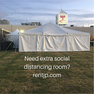 Journey Productions provides tents, tables, chairs for outside social distance events in Altus, OK