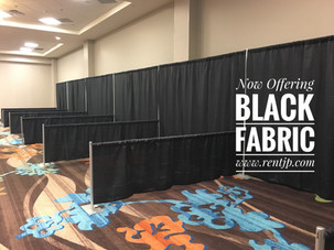 Pipe And Drape With Black Fabric