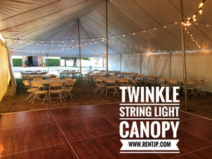 String Lights Under Tents