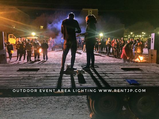 Outdoor Event Area Lighting