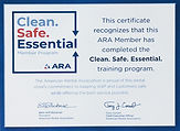 Clean. Safe. Essential. American Rental Association training program