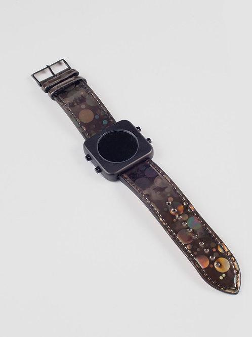 New Circa black mat case/brown holo-boîtier noir mat/Holo brun (REF:CB/HB)