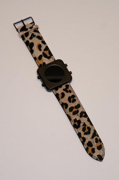 New Circa black mat case/Leopard-boîtier noir mat/Léopard(REF:CB/LP)