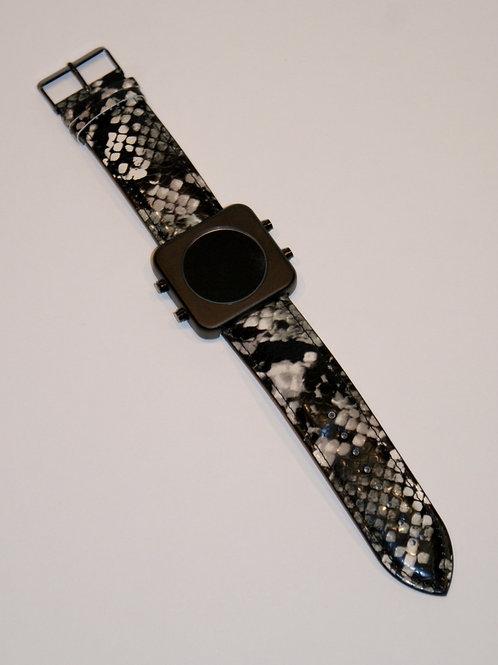 New CIRCA black mat/B&W snake -Boîtier noir mat/Serpent N&B(REF:CB/BS)